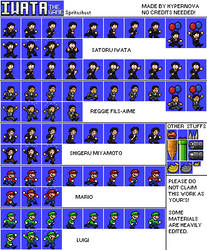 Iwata the Game sprites by Mamamia64