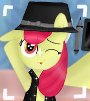 Apple Bloom selfie by DSfranCH