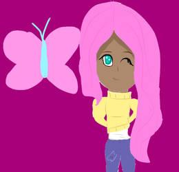 Fluttershy Humanized by Mlpfan4688