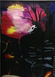 Wolf,Deer,Buck by Children-Of-TheNight