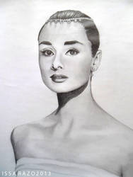 Audrey Hepburn by IsabelaRazo