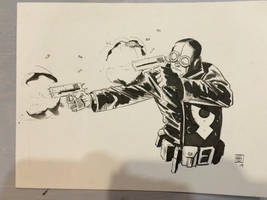 Lobster Johnson NC comiccon by Stephen-Green