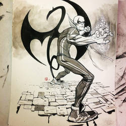 Iron fist! by Stephen-Green
