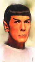 Spock Portrait TMP by karracaz