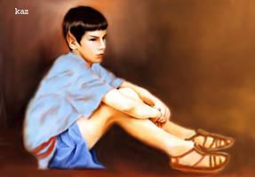 Spock on Seleya's Steps by karracaz
