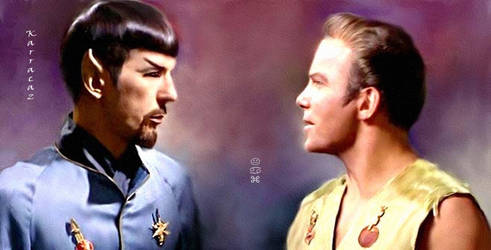 Mirror Spock and Kirk by karracaz