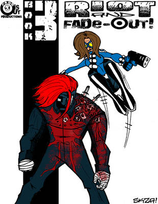 RIOT and Fade-Out Book3 CoverB by sketchsanchez