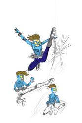 Gwen throws kicks, world hurts by sketchsanchez