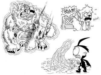 Werewolf Ghost by demongirl99