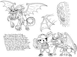 Monster Kids Study 2 by demongirl99