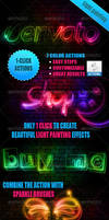 Light Painting Effect PS Actions by xgfxws