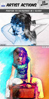 23 Sketch Artist Photoshop Actions by xgfxws