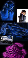 Photoshop Action - Neon Photo Effect by xgfxws