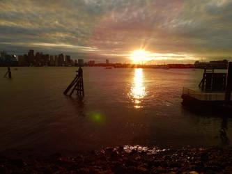 Boston Harbor sunset by Maria-Korneliou