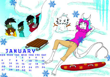 JCA Winter January Calendar by QueenSolaris