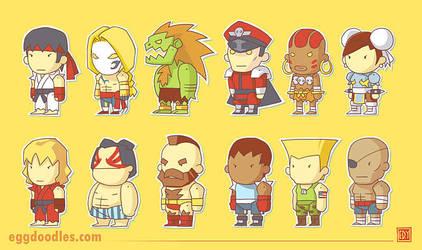 Street Fighter X Scribblenauts by ushio18