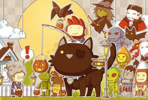 scribblenauts halloween by ushio18