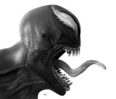 venom drawing by hg-art