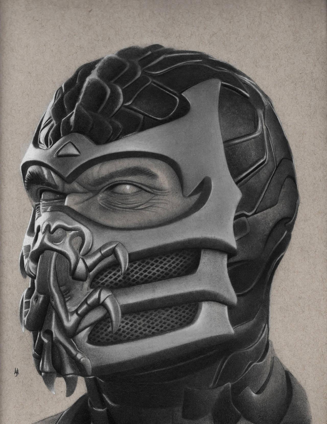 Scorpion Drawing by hg-art