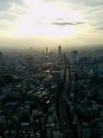 Sunset - Tokyo by arsidoas