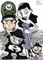 Sketch Card: Rocky and Bullwinkle (Villains) by jongraywb