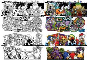 Off Panels: Sonic the Hedgehog #241-244 by jongraywb