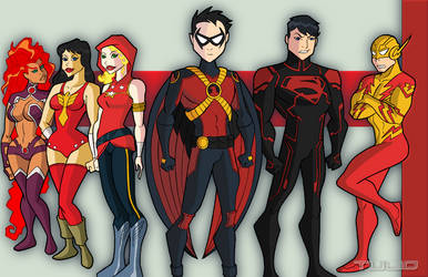 RRR Teen Titans by TULIO19mx