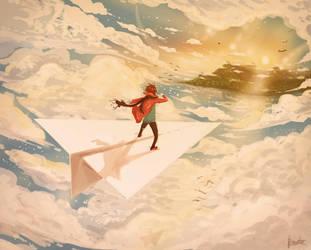 The Paper Man! by Bragatoilustra