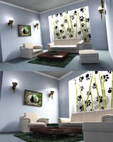 Panda Style Livingroom by nickeatworld