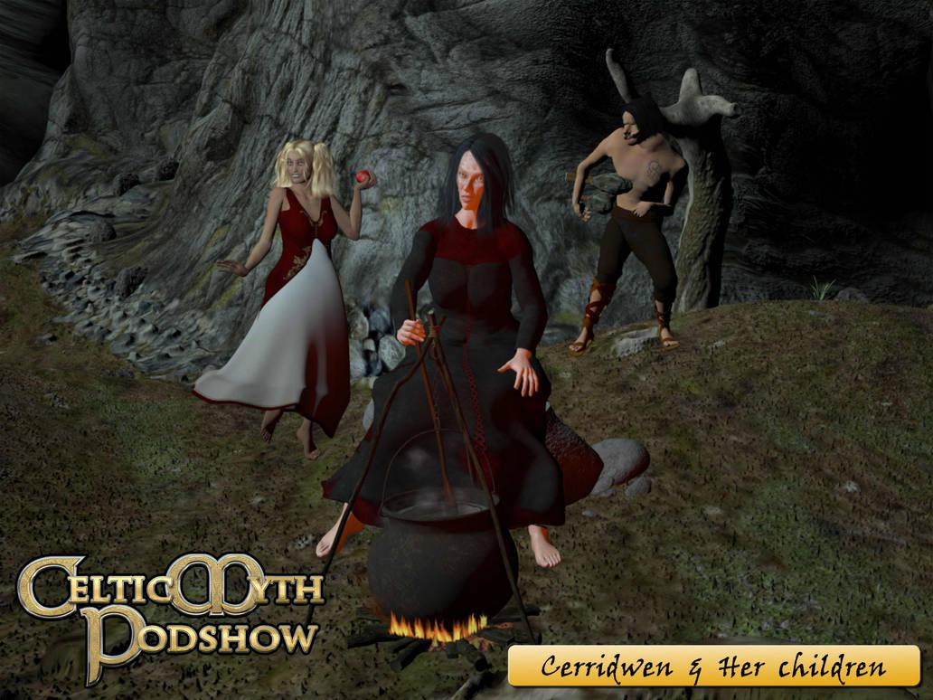 Cerridwen and Her Children by Silverwolf2006