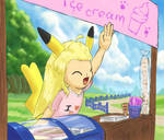 Southpaw's ice-cream stand by aquabluu