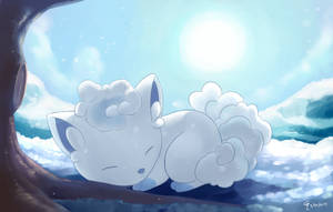 Alolan Vulpix by aquabluu