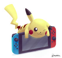 Pikachu on Switch by aquabluu