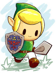 Link's Awakening by aquabluu