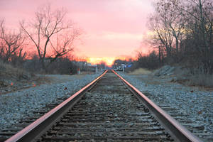 Railroad Sunset by DakotaBailey