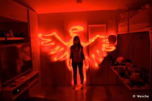 Angel rojo by Wesche