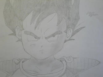 Kid Vegeta by Claudio-Agrezzi