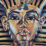 King Tut, Detail by LightCircleArt