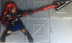 Erza Scarlet Perler (Spear) by TehMorrison