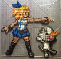 Lucy Heartfilia and Plue Perlers by TehMorrison