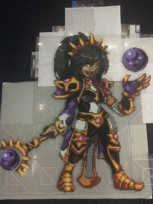 Heroes of the Storm Li-Ming Perler by TehMorrison
