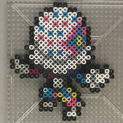 #806 Blacephalon Perler by TehMorrison