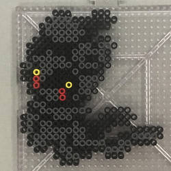 #802 Marshadow Perler by TehMorrison