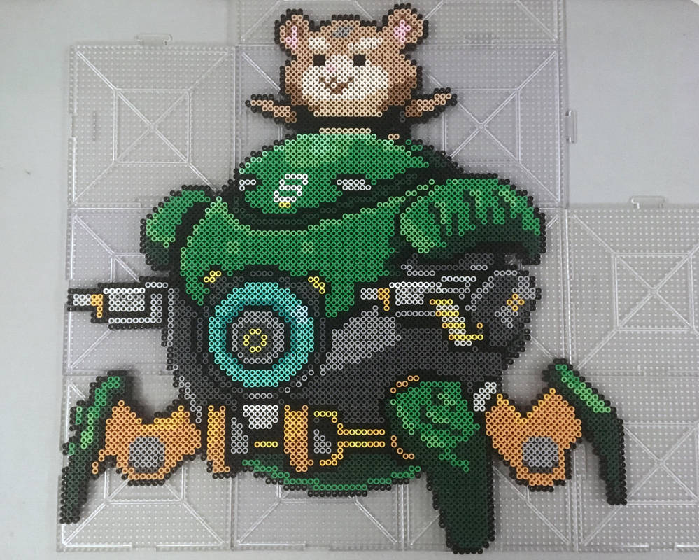 Overwatch Wrecking Ball Perler by TehMorrison