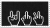 2 - Stamps   Peace and, Fuck you _ _ by LilPsychoGirl