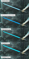 How to lightsaber by Dendory