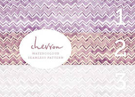 Chevron watercolor pattern by righteouBrother