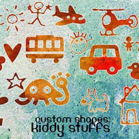 Kiddy Stuffs photoshop custom shapes by righteouBrother