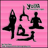 Yoga Custom Shapes Photoshop by righteouBrother