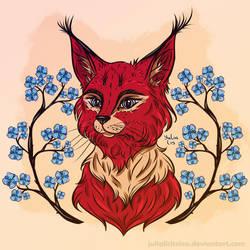 Red lynx by JuliaLisitsina
